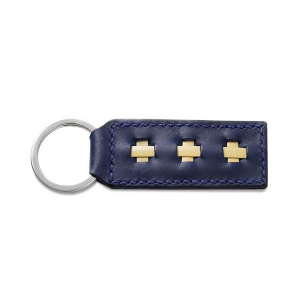 Leather Key Chains, Marine Blue
