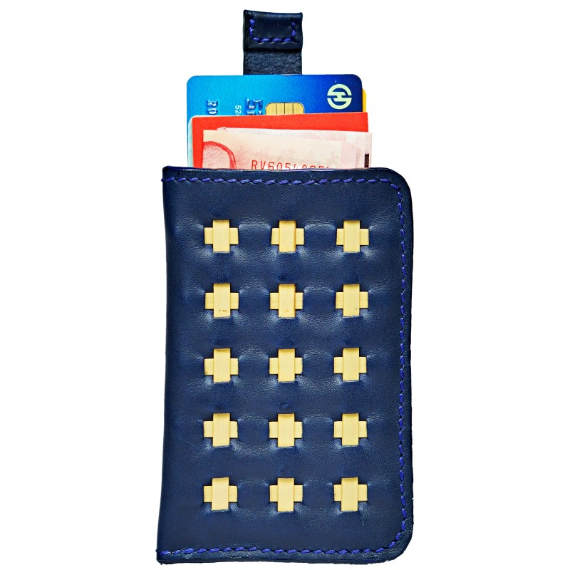 wallet marine blue open up whole