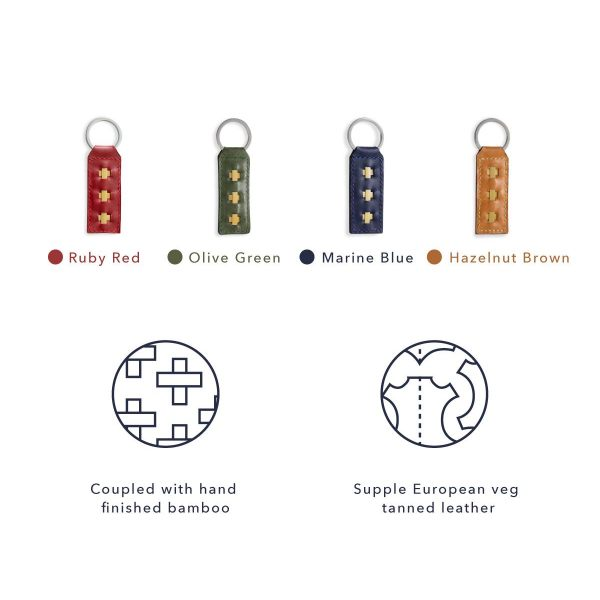 Leather key rings colors