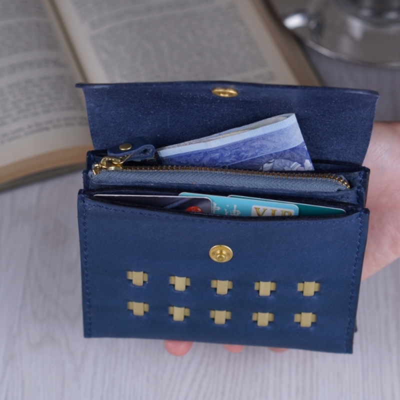 accordion wallet with cards and cash
