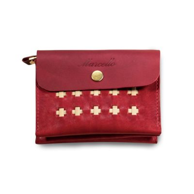 Accordion Wallet Ruby Red