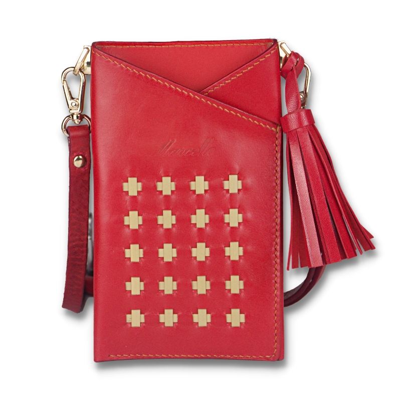 crossbody red phone pouch